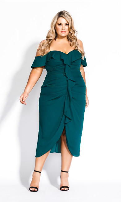 Women's Plus Size Va Va Voom Dress - emerald