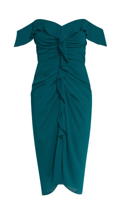 Va Va Voom Dress - emerald