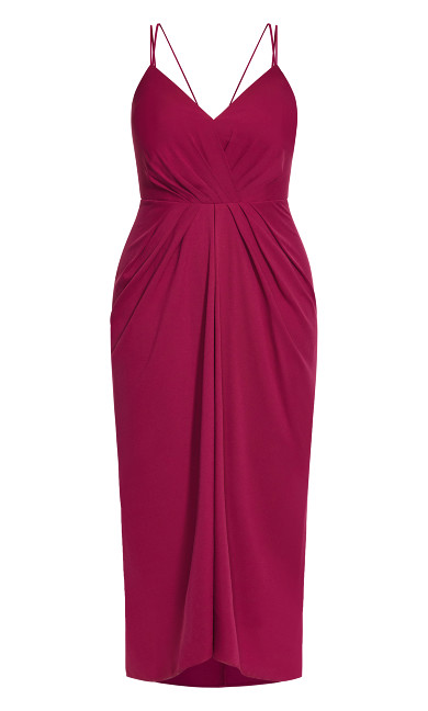 Luciana Maxi Dress - fuchsia