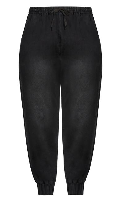 Soft Denim Pant - black