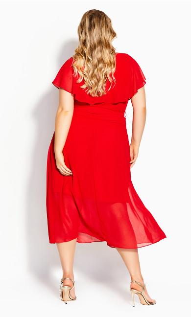 Softly Tied Dress - lipstick