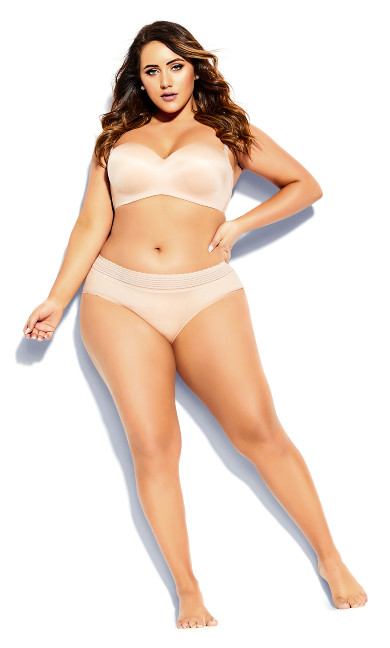 Plus Size Bodycon Multiway Bra - latte