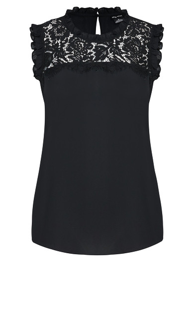 Lace Angel Top - black