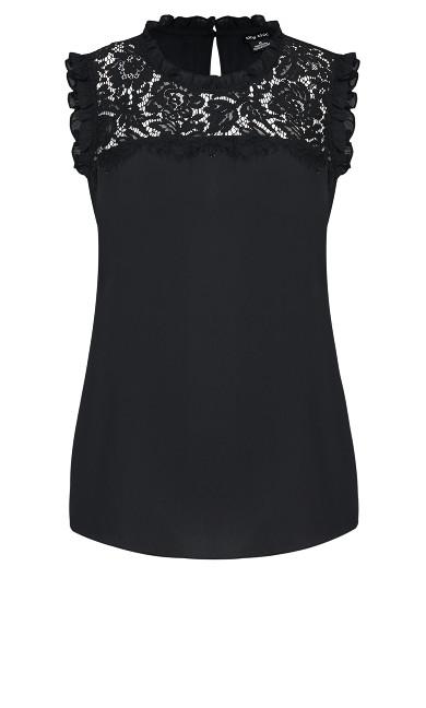 Lace Angel Top - black