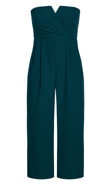 So Sassy Jumpsuit - emerald