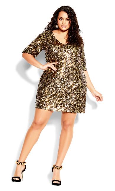 Dress Sequin Glam - gold