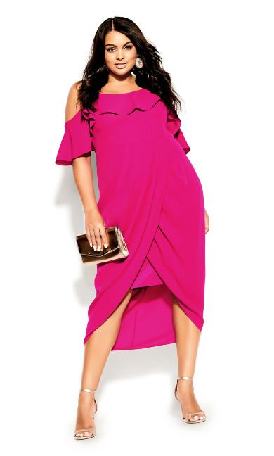 Plus Size Flirtation Dress - pink