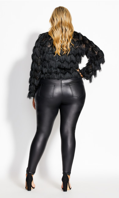 Fringe Fever Jacket- black