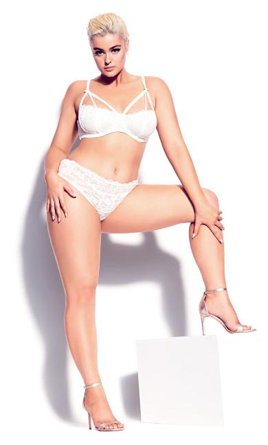 Plus Size Olivia Strappy Lace Bra - Ivory