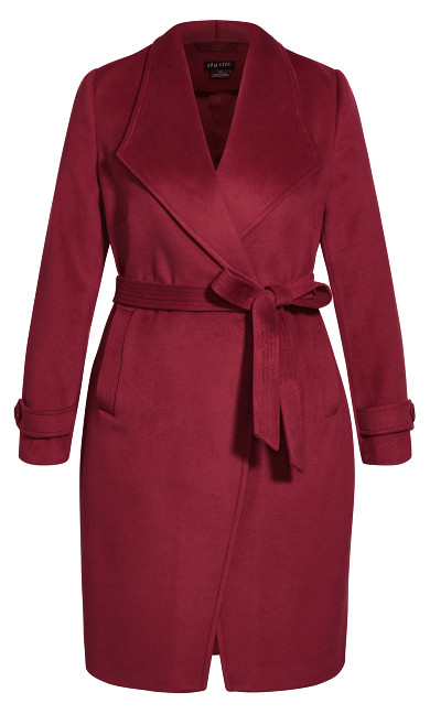 So Sleek Coat - sangria
