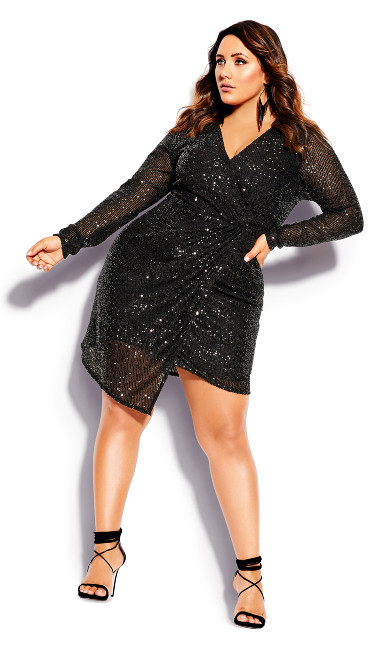 Plus Size Razzle Dress - black