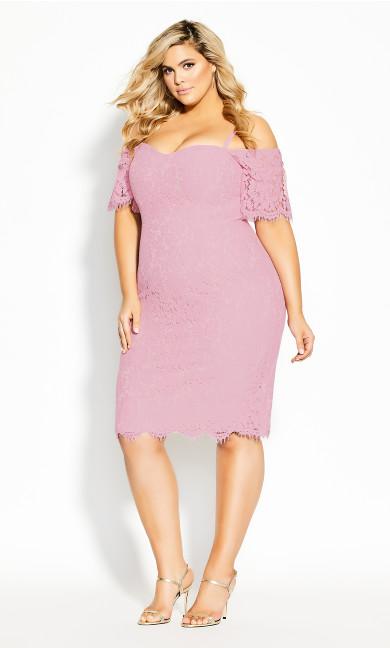 Lace Whisper Dress - musk