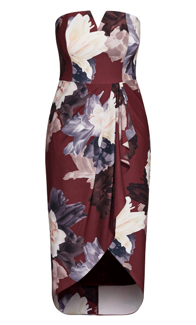 Miss Bordeaux Dress - burgundy