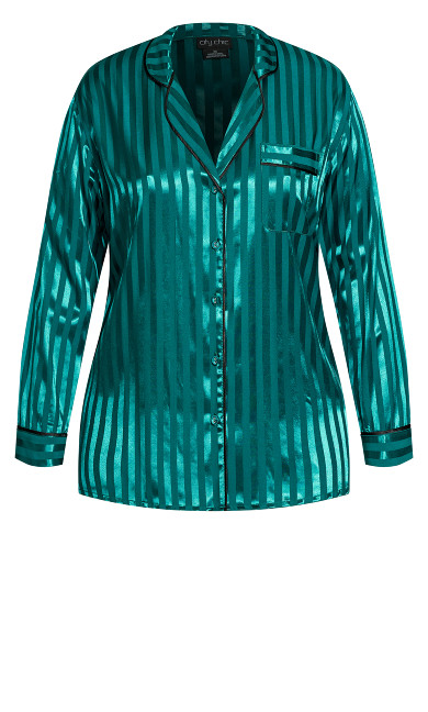 Sophia Sleep Shirt - emerald