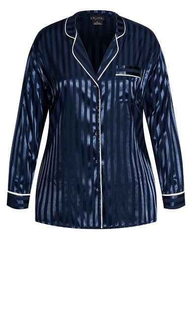 Sophia Sleep Shirt - navy