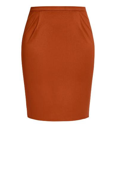 Midi Tube Skirt - ginger