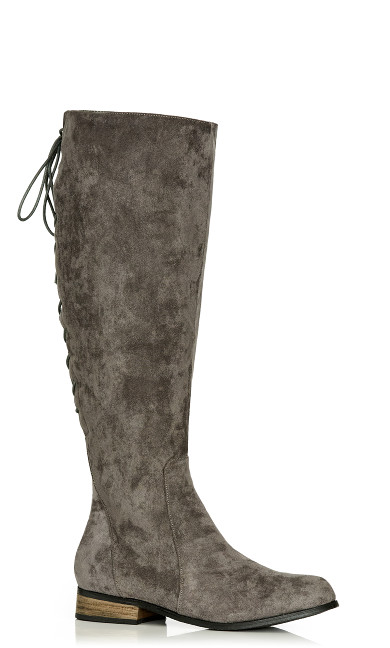 Perry Flat Knee Boot - steel