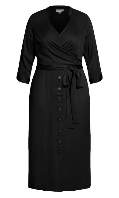 Softly Wrapped Dress - black
