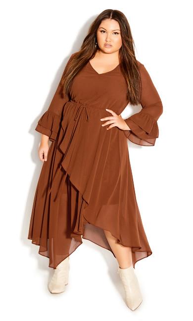 Plus Size Hidden Treasure Maxi Dress - ginger