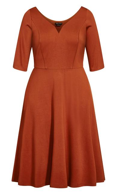 Cute Girl Elbow Sleeve Dress - ginger