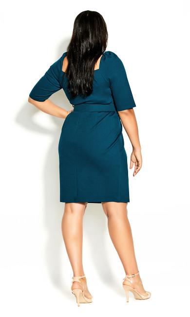 Illusive Sleeve Dress - alpine