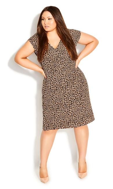 Plus Size Cheetah Dress - cheetah