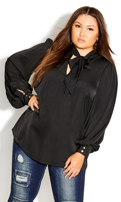 Plus Size In Awe Top - black