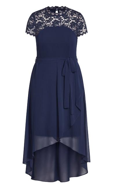 Lace Spirit Maxi Dress - navy