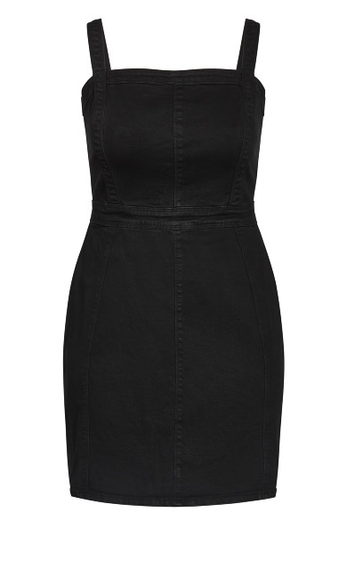 Cute Denim Dress - black