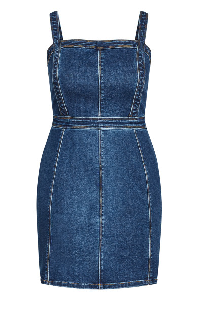 Cute Denim Dress - classic wash