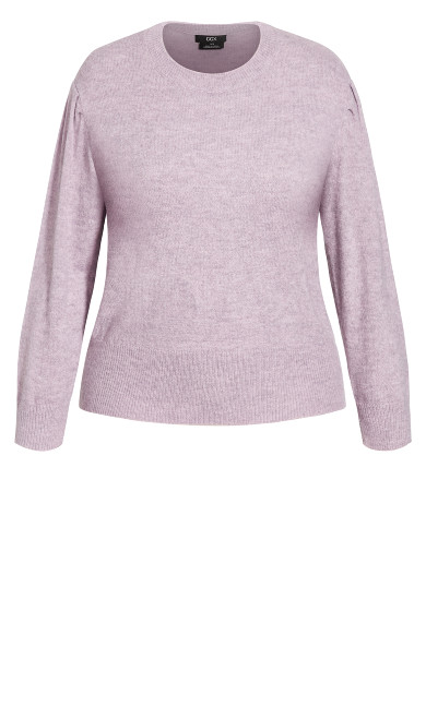 Mix Up Jumper - dusty lilac
