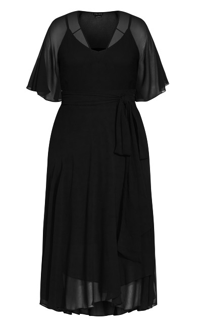Enthral Me Dress - black