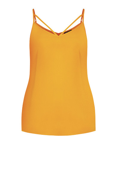 Strappy Woven Cami - honey