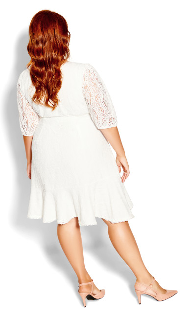 Sweetie Sleeve Dress - ivory