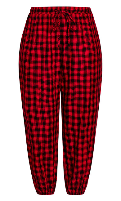 Check Sleep Pant - red
