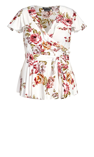 Rose Garden Top - white
