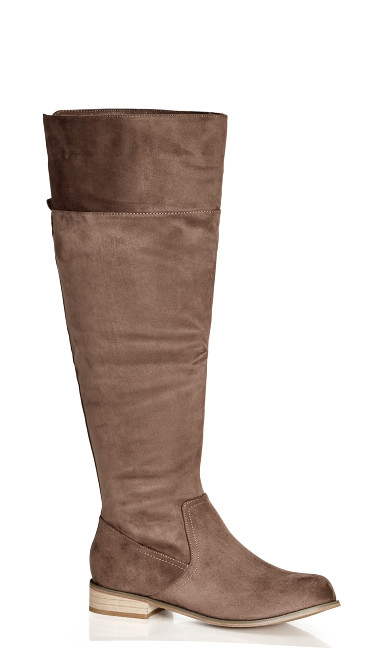 Harlie Knee Boot - stone grey