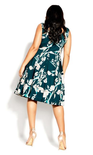 Fresh Floral Dress - jade