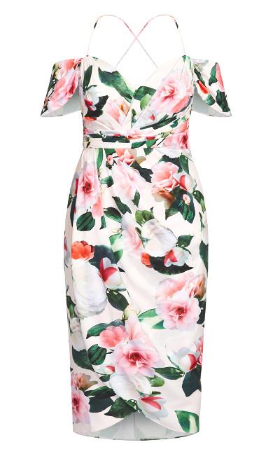 Pink Garden Maxi Dress - ivory