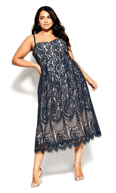Plus Size Sweetie Darling Dress - navy