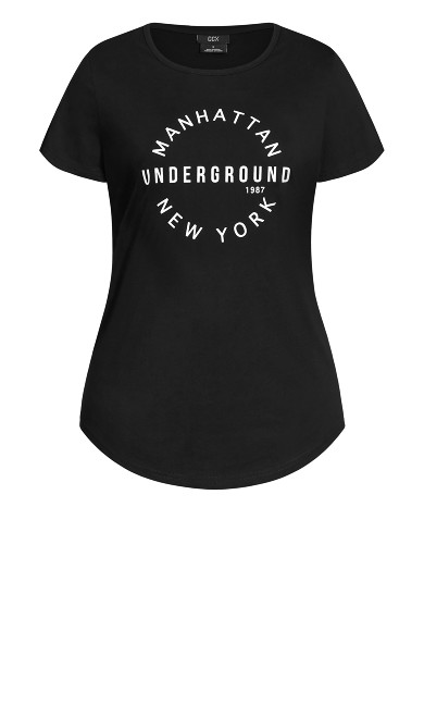 Manhattan Tee - black