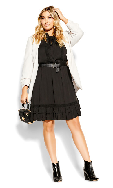 Precious Tie Dress - black