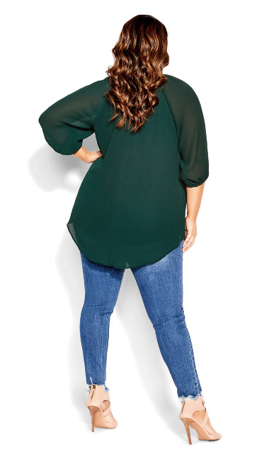 Lace Love Top - jade