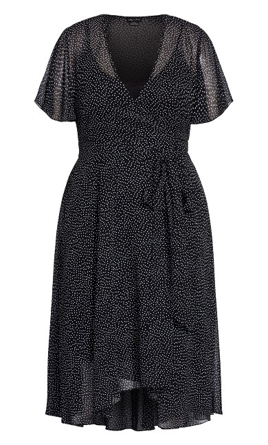 Spotty Wrap Dress - ivory