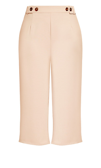 Button Crop Pant - dusty pink