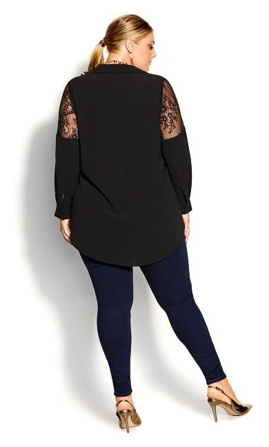 Lacy Hi Lo Shirt - black