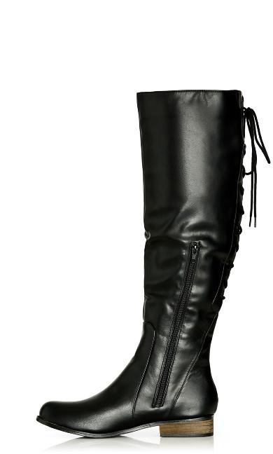 Perry Sleek Flat Boot - black