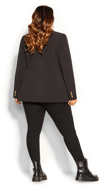 Contempo Longline Jacket - black
