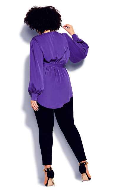 Opulent Hi Lo Top - royal purple