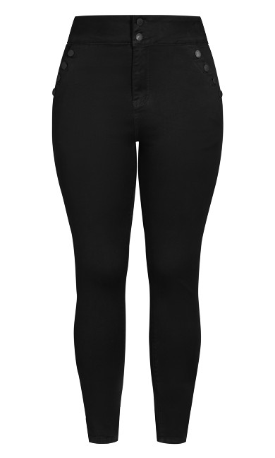Harley Buttoned Up Jean - black
